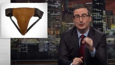 John Oliver was the buyer of Russell Crowe's leather jockstrap. Picture: Supplied