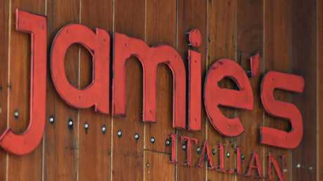 Jamie's Italian had six branches in Australia but the Canberra restaurant closed on Monday. Picture: AAP Image/Lukas Coch