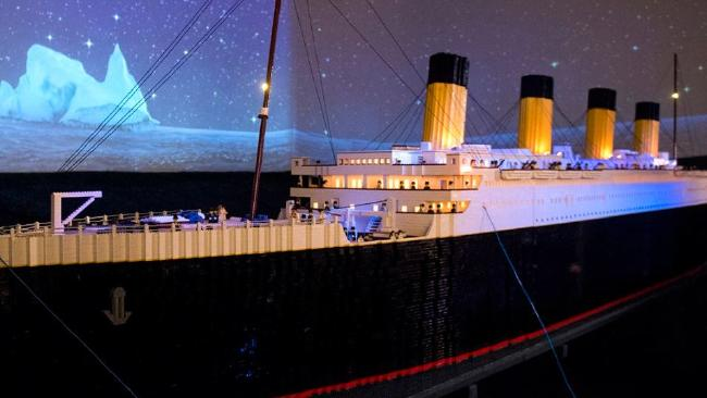 Lego replica of the Titanic. Picture: Brianna Paciorka/Twitter