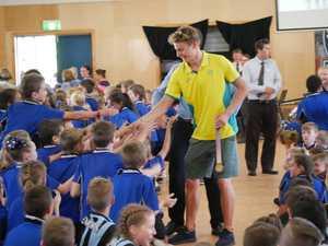 Gold medallist Matthew Hauser visits his primary school