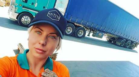 BREAKING BARRIERS: Blayze Williams is the Adelaide truckie breaking stereotypes.