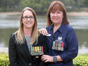 Women ready to walk together on Anzac Day