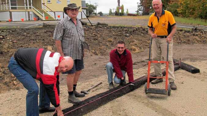 Building begins on community garden