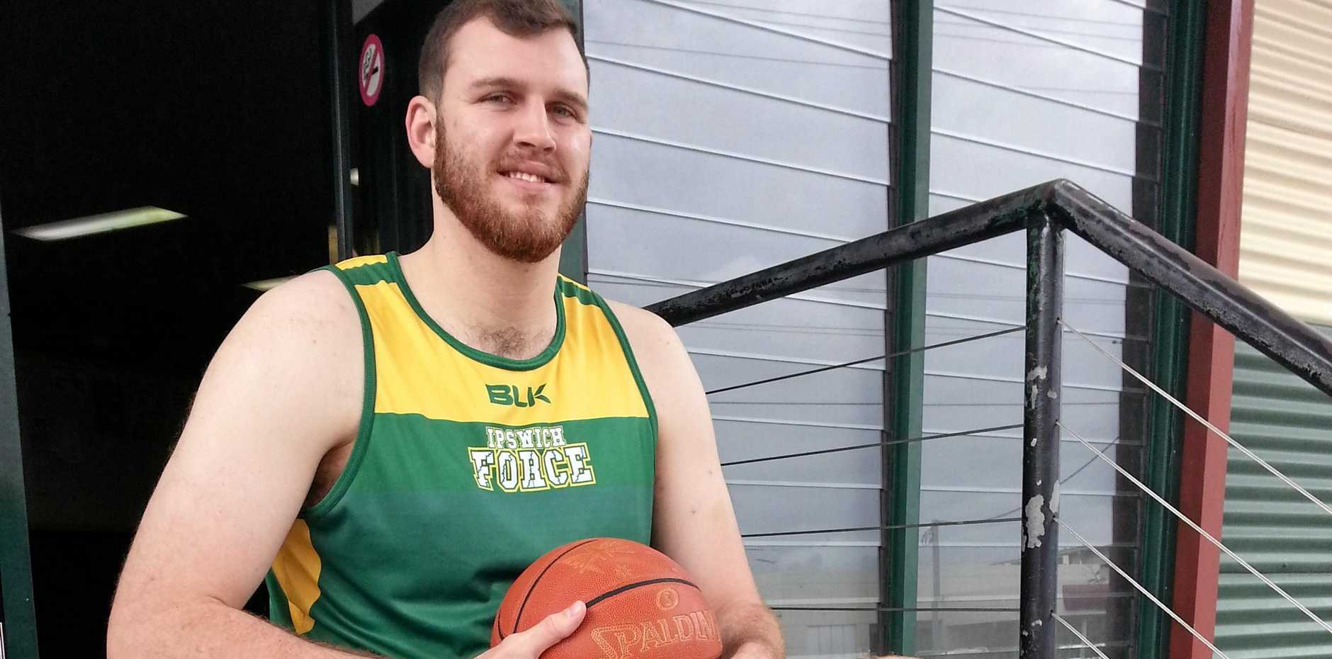 STEPPING UP: Ipswich Force QBL recruit Joe Owens is ready to help his new team develop a winning culture in the state league.
