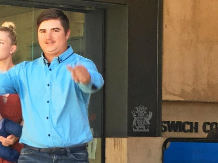 MDMA DEALS. Jarvis Sawtell, 19, walks from Ipswich Courthouse with family after he received an 18 month jail term for drug offences at Laidley. He was given immediate parole.