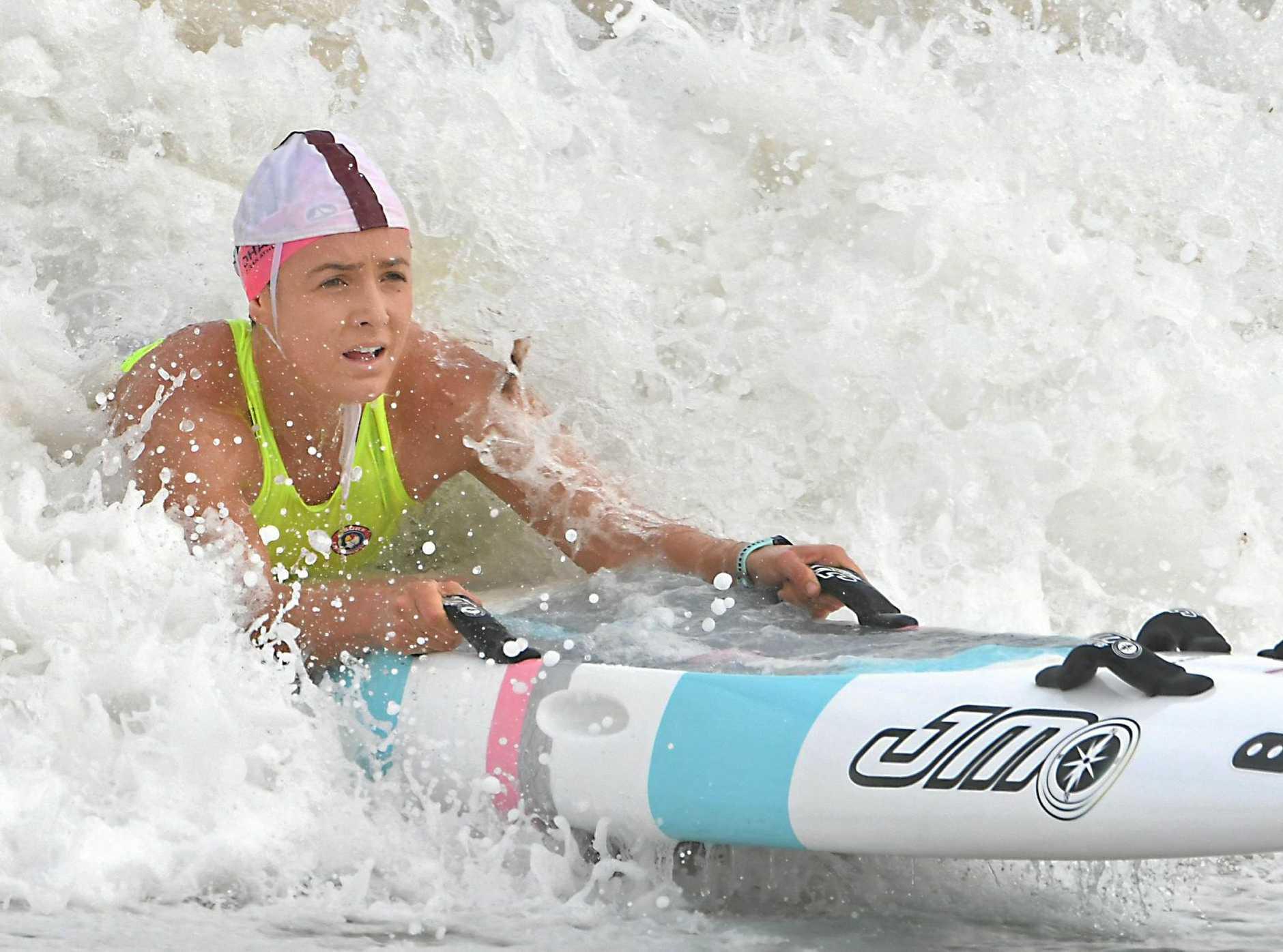 IN THE SURF: Jordan Mercer.