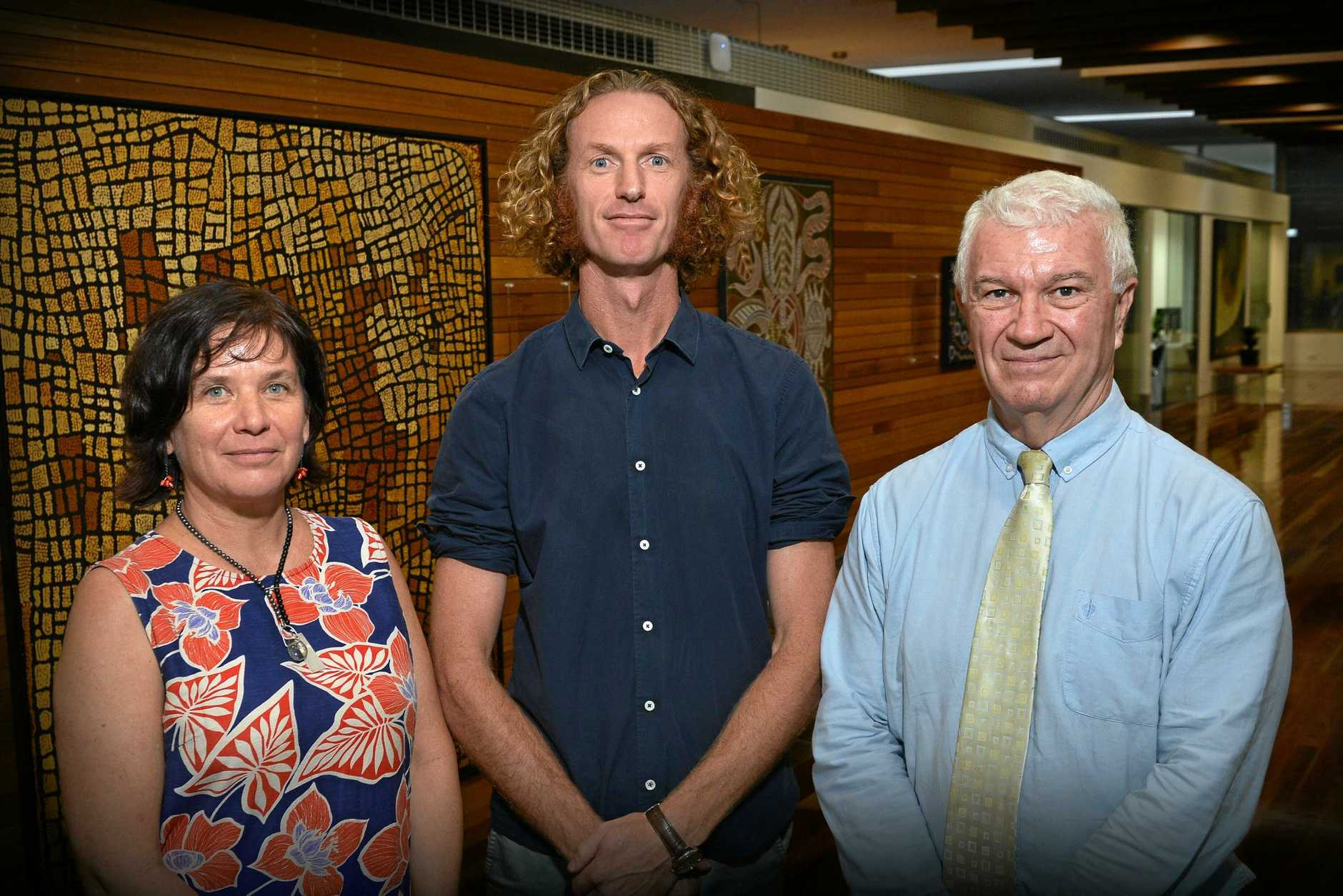 UQ phd scholar Madonna Boman, UQ associate professor Cameron Parsell and USC associate professor Phil Crane.