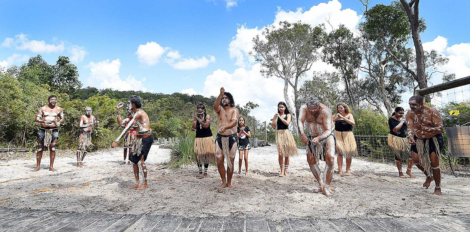 Fraser Island celebrates 25 years of world heritage listing - Butchulla Dancers.