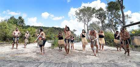 Fraser Island celebrates 25 years of world heritage listing - Butchulla Dancers.