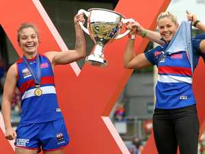 Bulldogs' AFLW skipper has a win over the AFL