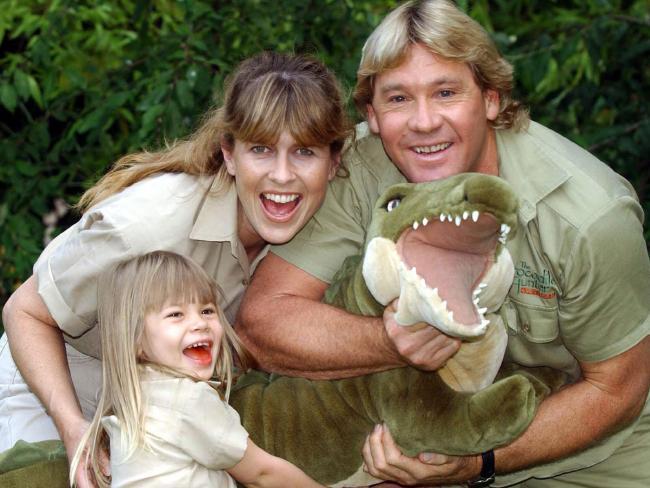 Steve, Terri and Bindi Irwin in 2002. Picture: Supplied