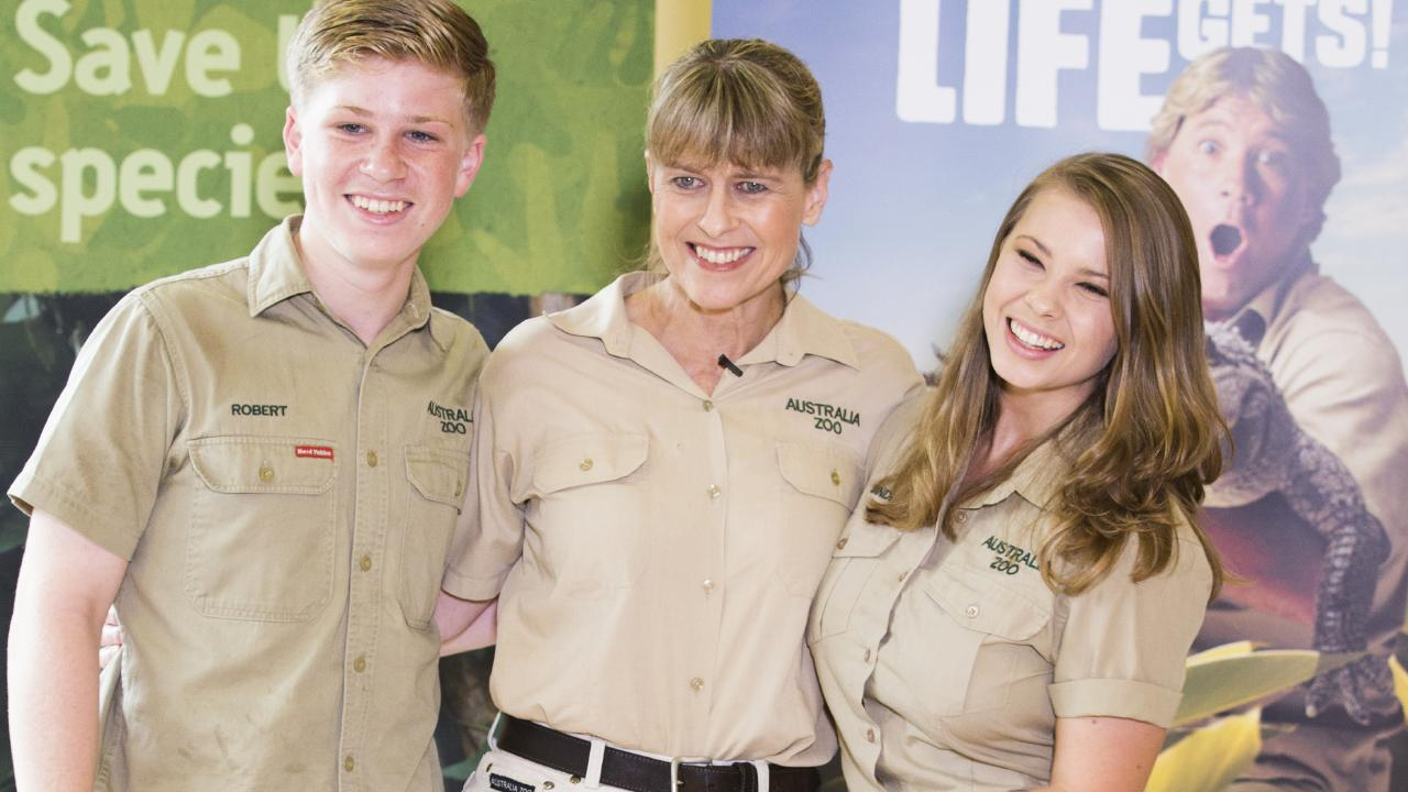 Robert, Terri and Bindi Irwin at Australia Zoo to announce Steve Irwin will be awarded a star on the Hollywood Walk of Fame in Los Angeles. Photo: Lachie Millard