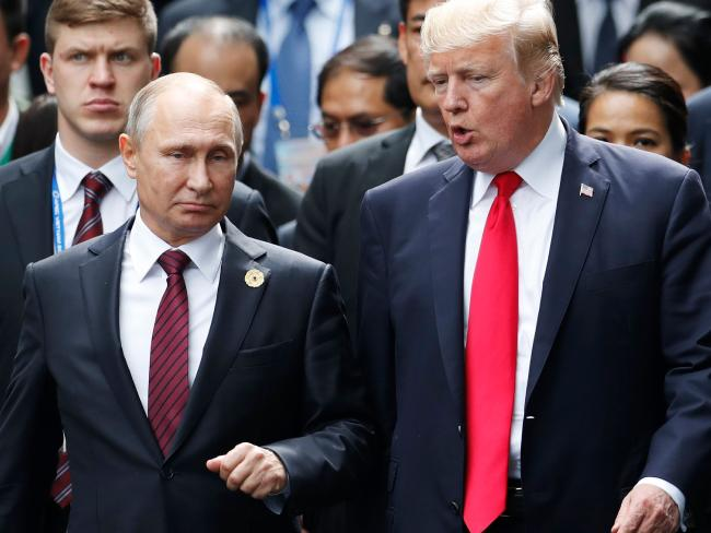 Donald Trump still wants a 'good relationship' with Vladimir Putin, according to the White House. Picture: AFP Photo / Pool / Jorge Silva