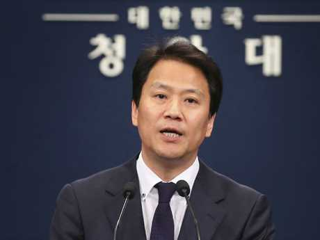 "South Korean presidential chief of staff Im Jong-seok said an in-person meeting would be ""entirely different"". Picture: AP"