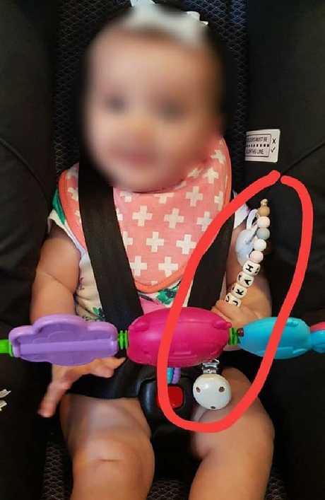An Australian mum has taken to Facebook to warn others about a teething ring. Picture: Facebook
