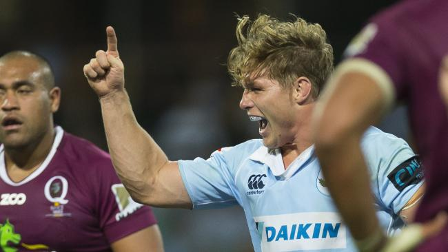 Michael Hooper has been named to lead the Waratahs against the Lions. Picture: Craig Golding/AAP