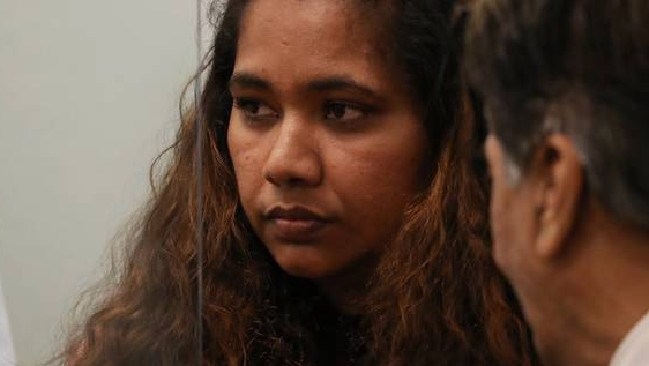Kasmeer Lata in the dock during her sentencing. Picture: Jason Oxenham