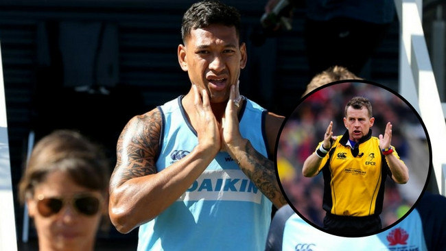 Nigel Owens has delivered a strong message to Israel Folau.