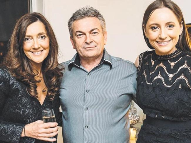 Karen, Borce and Sarah Ristevski. Sarah has maintained her father's innocence throughout the investigation in her mother's disappearance and murder.