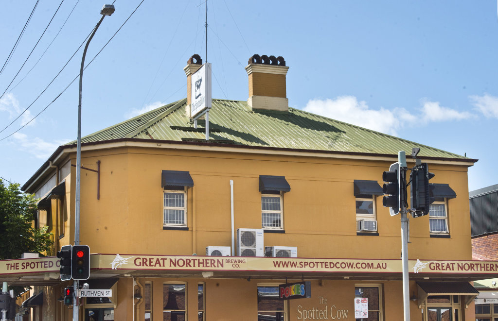 The alleged incident took place at the Spotted Cow.