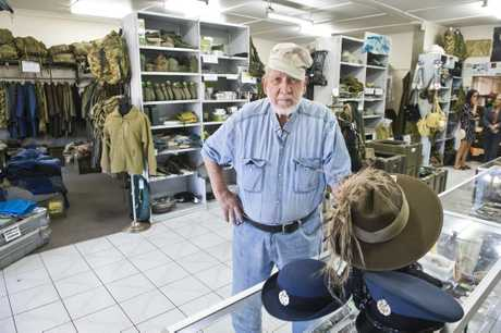 Helmut Stumkat is selling his store Toowoomba Army Disposal Warehouse.