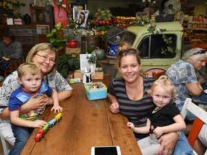Farmer and Sun cafe in Gympie Oskar, Anne, Charlotte