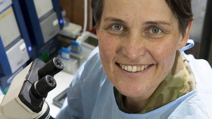 Lieutenant Kathryn Staughton is the pathologist at Task Group Taji's Role 1E Medical Facility at Taji Military Complex, Iraq.