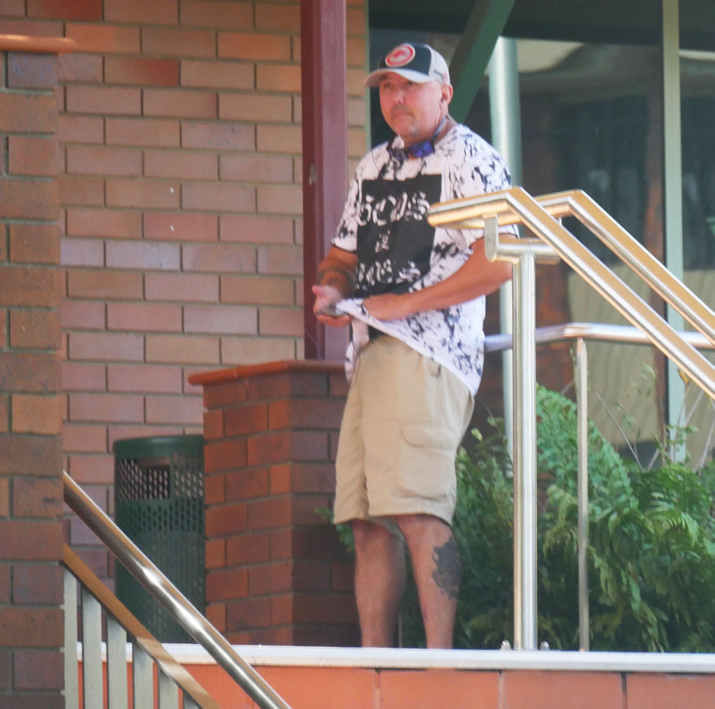 Kleint Richard Pretlove outside Hervey Bay Magistrates Court. He pleaded guilty to obstructing police.