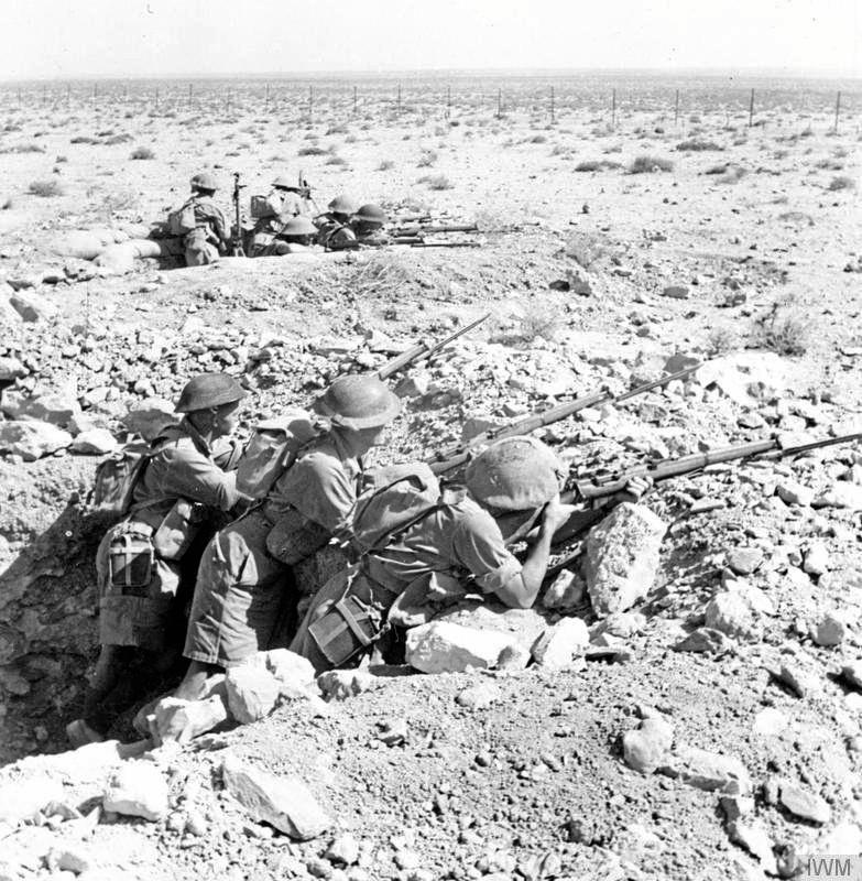 Infantrymen serving during the Battle of Tobruk - a campaign in which J.D. Lavarack played a major role.