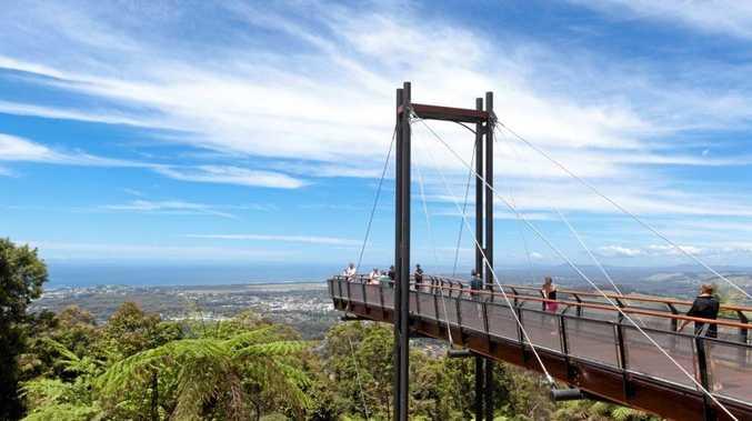 Forest Sky Pier, Bruxner Park Flora Reserve, Coffs Harbour, New South Wales, Australia.