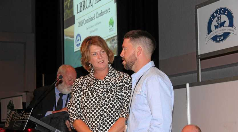 DESERVING WINNER: Minister for Roads, Maritime and Freight Melinda Pavey with Young Driver of the Year winner Mark Carmichael.
