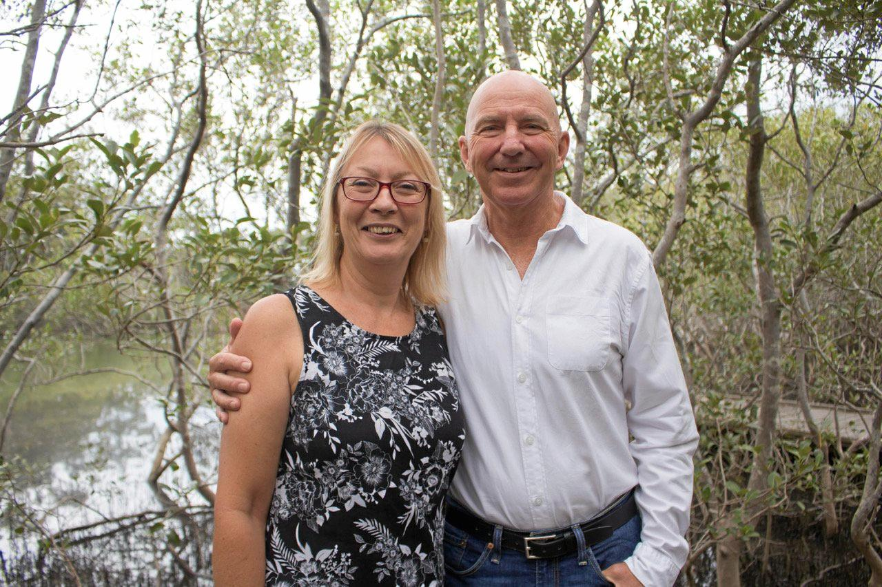 CAMPAIGN READY: Endorsed Labor candidate for Coffs Harbour, Tony Judge, with wife Dianne.