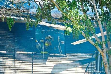 House fire in Boles Street, West Gladstone.