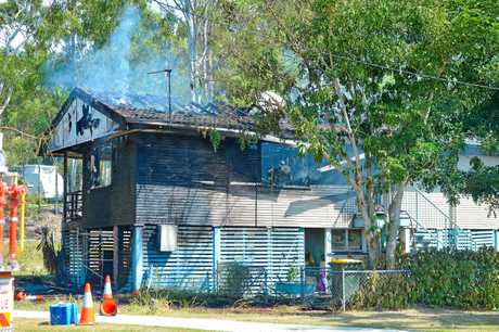 House fire in Boles Street, West Gladstone.