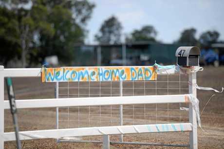 Tyrone Buckton's welcome home sign.