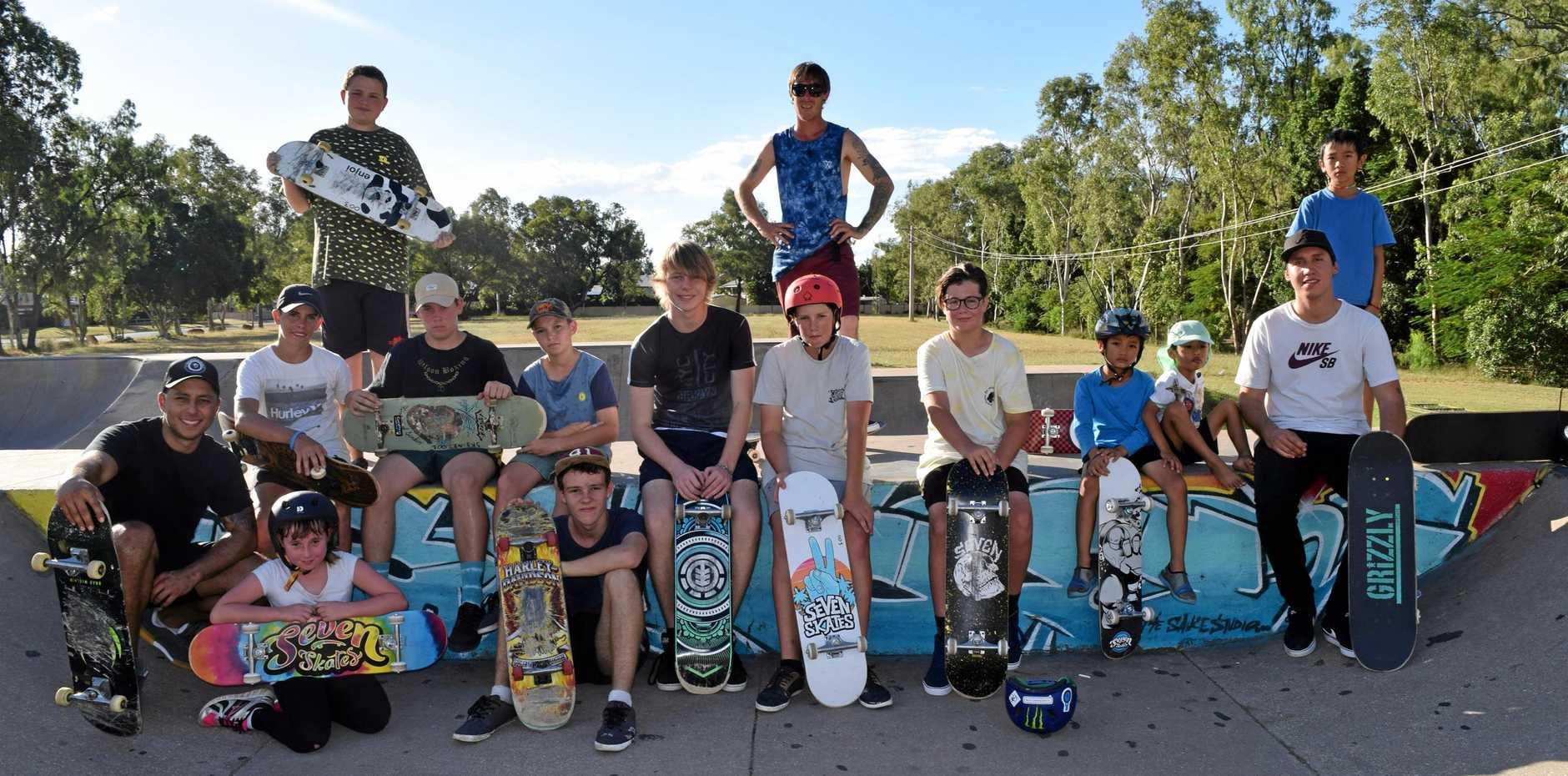 FUN TIMES: Emerald Skate Mates supplies free skateboard coaching and training at Emerald Skatepark.