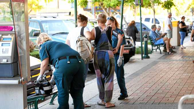 EMERGENCY CALL: Paramedics were called to Bourbong St where they assessed the woman, who suffered a bruised hip.