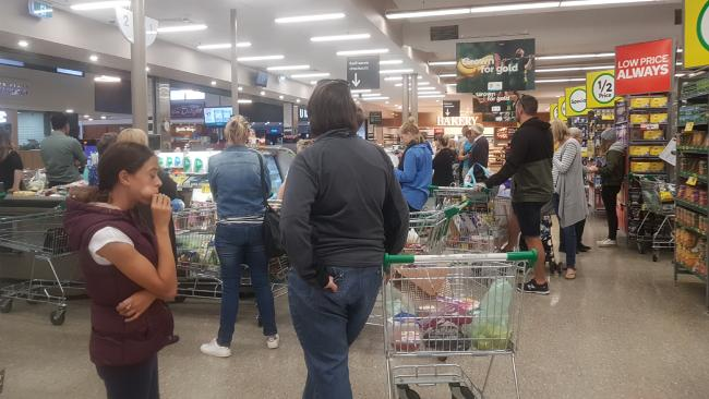 Woolworths stores across the country ground to a standstill this week. Picture: Greg Barilla