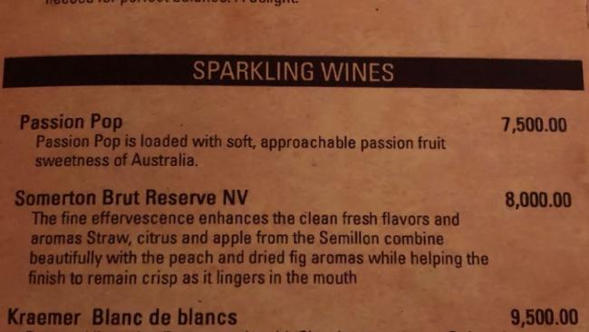 A restaurant in Sri Lanka is selling Passion Pop for $60 a bottle