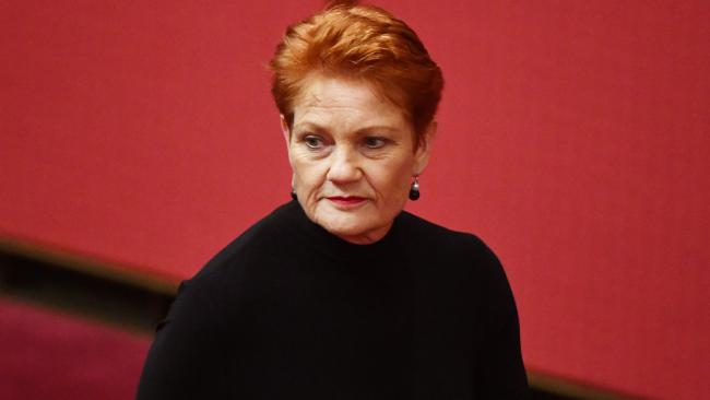 One Nation leader Senator Pauline Hanson wants Australian soldiers to stay in Afghanistan. Picture: AAP Image/Mick Tsikas