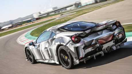 Pista takes to Ferrari's Fiorano test track. Pic: Supplied