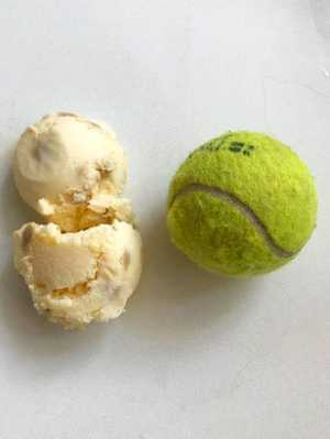 Ice cream serves shouldn't be bigger than a tennis ball.