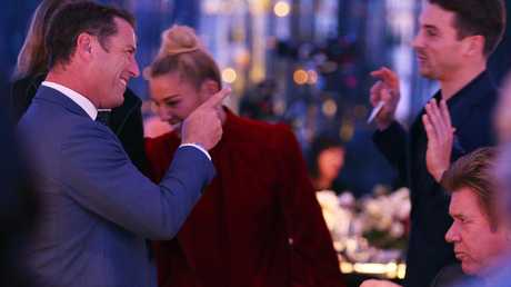 Jasmine Yarborough said she and Karl Stefanovic enjoy a good laugh. Picture: Toby Zerna
