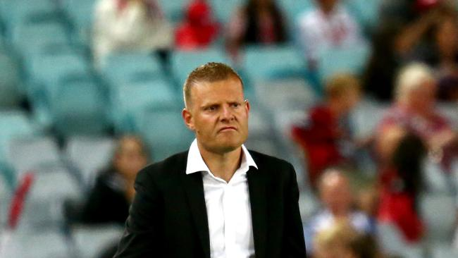Coach of the Wanderers, Josey Gombau looks on dejected