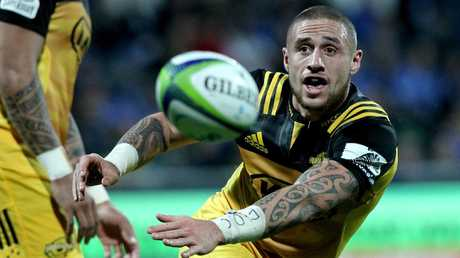 TJ Perenara playing for the Hurricanes in Super Rugby.