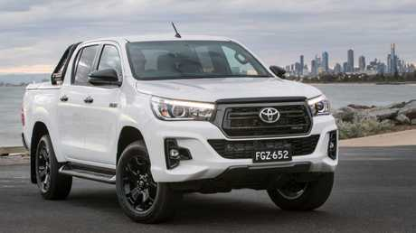 The Toyota HiLux Rogue has a sports-luxury look but still lacks the latest technology. Picture: Supplied.