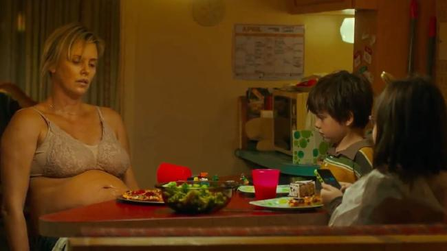 Charlize Theron plays mum Marlo in the upcoming film Tully.