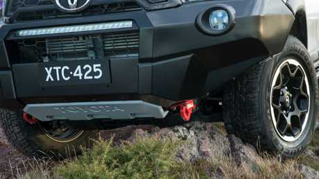 Rugged X extras including the nudge bar, bash plate, heavy duty tow hooks and LED lights are fitted in Melbourne before the vehicles are distributed to dealers. Picture: Supplied.