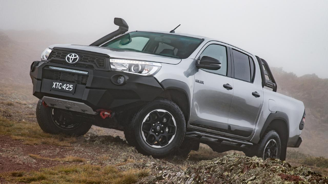 The Toyota HiLux Rugged X has heavy duty accessories designed and developed in Australia for local conditions. Picture: Supplied.