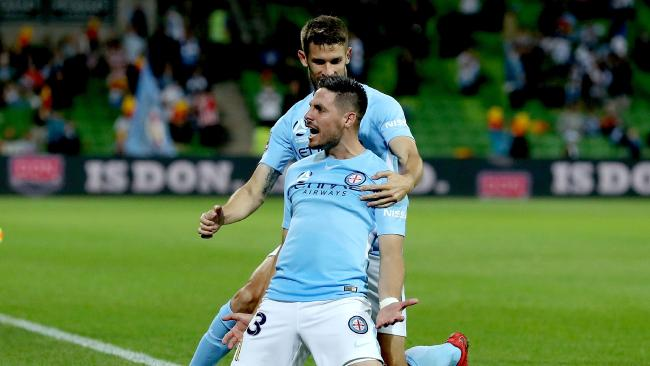 Bruno Fornaroli of Melbourne City celebrates